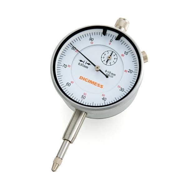 Relógio Comparador - Cap. 0-10 mm - Graduação De 0,01mm - Diâmetro Do Mostrador Ø58mm - Tampa Traseira Com Orelha - Ref. 121.302 - DIGIMESS