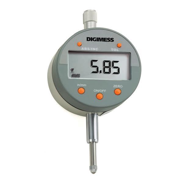 """Relógio Comparador Digital - Cap. 0-50mm/0-2"""" - Resolução De 0,01mm/.0005"""" - Ref.121.337 - DIGIMESS"""