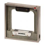 Nível Quadrangular De Precisão – Dimensões 150x150mm – Sensibilidade 0,05mm/m – Exatidão ± 0,025mm/m – DIGIMESS