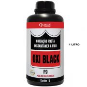 OXI BLACK F9 - Oxidação Preta Instantânea a Frio - Embalagem 1 Litro - QUIMATIC/TAPMATIC