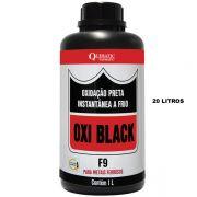 OXI BLACK F9 - Oxidação Preta Instantânea a Frio - Embalagem 20 Litros - QUIMATIC/TAPMATIC