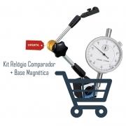 Base Magnética Articulada Ajuste Fino + Relógio Comparador