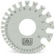 Calibrador De Fieira Em Aço Inox - Cap. 0 a 36 - Ref. 113,0010 - ZAAS