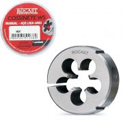Cossinete Manual Em Aço Liga WS - Med. MF 10 x 1,25 - (MF) Rosca Métrica Fina - Norma ANSI - Ref. 337,0037 - ROCAST