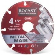 """Disco De Corte Diamantado Metal Mais - Metal Mais - Med. 4.1/2"""" - Ref. 412,0001 - ROCAST"""
