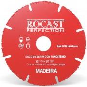 Disco De Serra Com Tungstênio Madeira - Med. 110x20 - Ref. 245,0001 - ROCAST