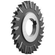 Fresa Circular, Corte 3 Lados, Dente Extra Fino Cruzado e Alternado - Med. 100 x 6 x 32mm - DIN 1834 AN - Aço M2 - INDAÇO