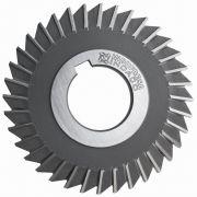 Fresa Circular, Corte 3 Lados, Dente Reto Extra Fino - Med. 125 x 5 x 32mm - DIN 1834 BN - Aço M2 - INDAÇO