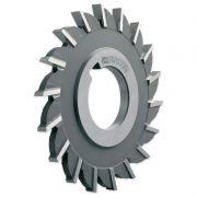 """Fresa Circular, Corte 3 Lados, Dentes Retos - Med. 3.1/2 x 1/4 x 1"""" - DIN 885 B H - Aço HSS (M2) - INDAÇO"""