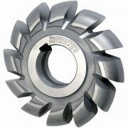Fresa de Perfil Constante, Semi-Circular Convexa - Med. 100 x 22mm Raio 11,0mm - DIN 856 - Aço HSS (M2) - INDAÇO
