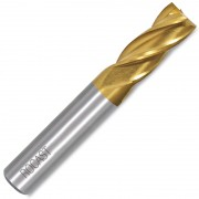 Fresa de Topo Reto 4 Cortes - 18,0mm - Com 8% Cobalto, DIN 844 AN - 261,0025 - ROCAST