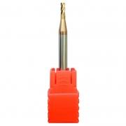 Fresa Topo Reto Metal Duro 1,0mm - 4 Cortes Com 55HRC