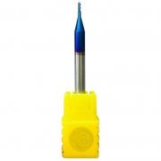 Fresa Topo Reto Metal Duro 1,0mm - 4 Cortes Com 63HRC