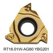 Inserto Pastilha de Rosca 16 Externa 60º - RT16.01W-G60P YBG201 - Caixa com 10 Peças - ZCC-CT