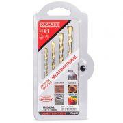 Jogo de Brocas Multimateriais - Embalada - 4 á 8mm - Blister 4 peças - Ref. 244,0012 -  ROCAST