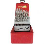Jogo de Brocas - 1,0 a 13mm - DIN 338 N - Com 25 Peças - 05,0161 - ROCAST