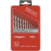 Jogo de Brocas - 1,5 a 6,5mm - DIN 338 N - Com 13 Peças - 05,0159 - ROCAST