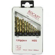 Jogo de Brocas Com Titânio - 1,5 a 6,5mm - Com 13 Peças - 137,0057 - ROCAST