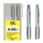 Jogo De Macho Manual Aço Rápido HSS M 7,0 X 1,00 - Perfil Semi-Seriado - (M) 101 - DIN 352 - Jg Com 2 Peças - OSG