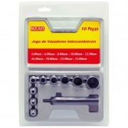 Jogo de Vazadores - Med. 5,0 a 32,0mm - Ref. 59,0017 - ROCAST