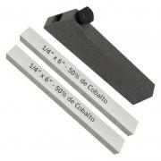 Kit 2 Bits Quadrado 1/4 X 6 - 50% De Cobalto + Porta Bits