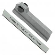 Kit Bedame 1/2 X 1/8 X 6 50% Cobalto + Porta Bedame 1/2 Reto