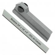 Kit Bedame 3/4 X 1/8 X 6 50% Cobalto + Porta Bedame 3/4 Reto