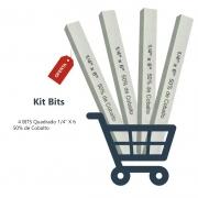 Kit Bits Quadrado 1/4 X 6 - 50% Cobalto - 4 Pçs