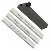 Kit Bits Quadrado 1/4 X 6 50% Cobalto + Porta 1/4 - 4 Peças