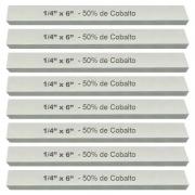 Kit Bits Quadrado 1/4 X 6 - Com 50% De Cobalto - 8 Peças