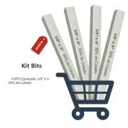 Kit Bits Quadrado 3/8 X 4 - 50% Cobalto - 4 Pçs