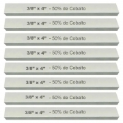 Kit Bits Quadrado 3/8 X 4 - Com 50% De Cobalto - 8 Peças