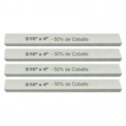 Kit Bits Quadrado 5/16 X 4 - Com 50% De Cobalto - 4 Peças