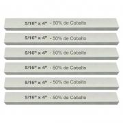 Kit Bits Quadrado 5/16 X 4 - Com 50% De Cobalto - 6 Peças