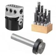 Kit Cabeçote Broquear 75mm + Haste 20mm + JG Mandrilar 18mm