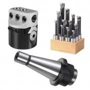Kit Cabeçote Broquear 75mm + Haste ISO40 + JG Mandrilar 18mm
