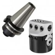 Kit Cabeçote Broquear F100 mm + Haste BT40