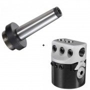 Kit Cabeçote Broquear F75 mm + Haste Cone Morse 3 - JG TOOLS