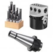 Kit Cabeçote Broquear 50mm + Haste ISO30 + JG Barra 12mm