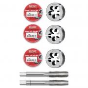 Kit Cossinete - Med.M8x1,25/M10x1,5/M12X1,75+ Macho M12X1,25