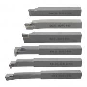 Kit Ferramenta Soldada Para Torno Med. 20mm Direita - 6 PÇS