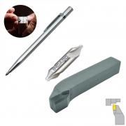 Kit Ferramenta Soldada ISO 6 - 1212 + Riscador 145mm + Broca Centrar - Med. 5,0 X 12,5 mm