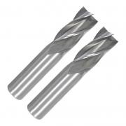Kit Fresa Topo Reto 4 Cortes - HSS - Med. 16 e 17 mm