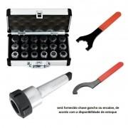 Kit Jogo Pinças ER40 Cone Morse 3 Chave