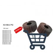 Kit Lixa Rotativa Roda Para Micro Retífica 50x20 Mm 375 Pçs