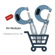 Kit Micrômetro 0-25 mm - 2 Peças
