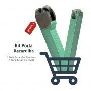 Kit Porta Recartilha Dupla 3/4 e Simples 3/4 - 2 Peças