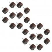 Kit Roda de Lixa Med. 25mm x 20mm - Grana 50 - 20 Peças