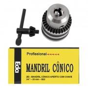 Mandril Med. 3/4 Com Chave - Super 5.0 a 20mm - Encaixe B22