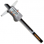"""Paquímetro Digital De Profundidade - Cap. 200mm/8"""" - Base Apoio 150mm - Resolução De 0,01mm/.0005"""""""